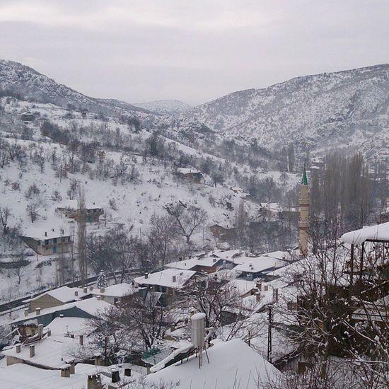 Dereköy'de kara kış görünümü. Yakupcetincom Dereköy Bozkır Konya Bozkir