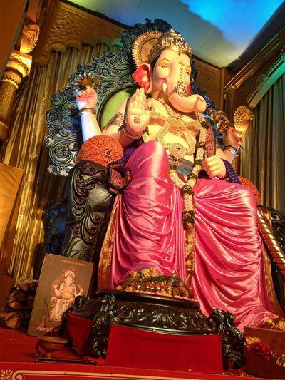 Lord Ganesh during the Ganesh Chaturthi festival. Ganapati Bappa Morya! Art Creativity Culture Cultures Day Decoration Festival Ganapati Ganapatibappamorya Ganesh Ganesha GaneshChaturthi Ganeshfestival Ganeshji Ganeshotsav Multi Colored No People Ornate Statue Temple Temple - Building