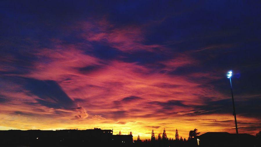 Sky on fire Sky