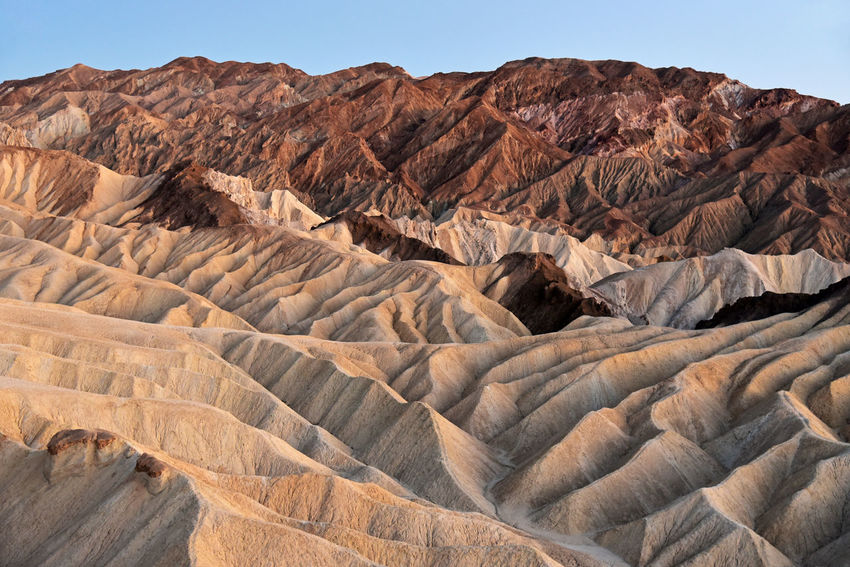 Zabriskie Point in Death Valley National Park, California California National Park Zabriskie Point Arid Climate Beauty In Nature Geology Landscape Mountain Physical Geography