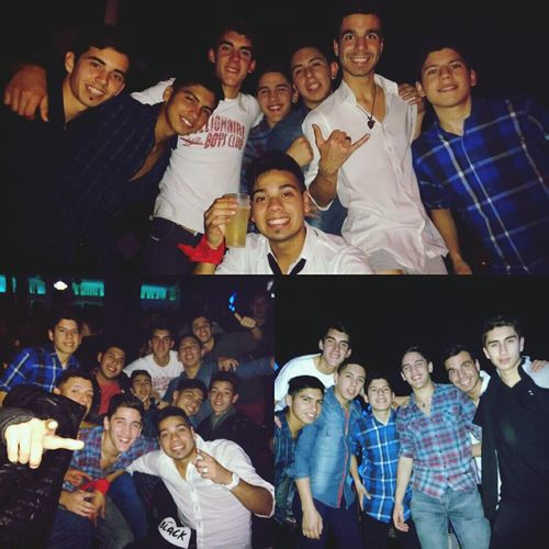 Hermosa noche con los pibes Night Friends The Cousins Fiux Party Happy