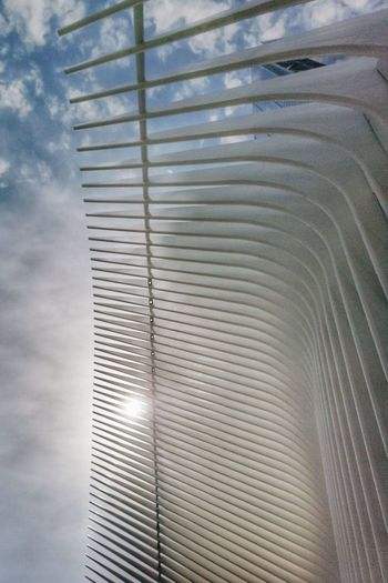 tracing CFPRS Ricardo Barbosa Sun Sol NY NYC Sky Hope USA Travel Trip Corrugated Iron Pattern Close-up Corrugated Iron Refraction Parallel