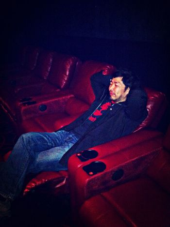 American Hustle, reclined.