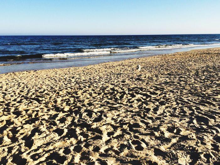 Beach Shadows CacelaVelha Sand Cacela Velha Portugal Beige And Blue