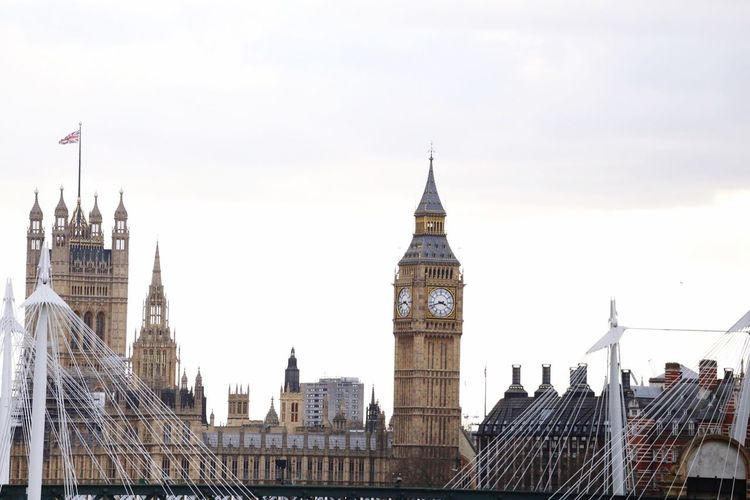 Big ben and palace of westminster against sky
