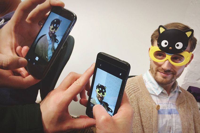 Funny Cat Eyeglasses  Smartphone Photography at Work Working At EyeEm