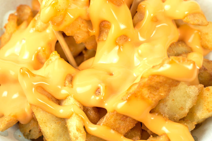 Tasty french fries with cheese sauce. Deep fry potato or appetizer. Food Food And Drink Freshness Close-up No People Ready-to-eat Still Life Full Frame Indoors  Yellow Dairy Product Wellbeing Backgrounds Indulgence Pasta Snack Italian Food Healthy Eating Cheese Temptation Frenchfries Frenchfries😋 Cheese! French Fries Fast Food