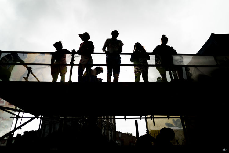 Notting Hill Carnival 2016 Avian Balustrade Bannister Day Footbridge Large Group Of People Low Angle View Nature Outdoors Outline Person Railing Silhouette Sky Summer Tourism Vacations