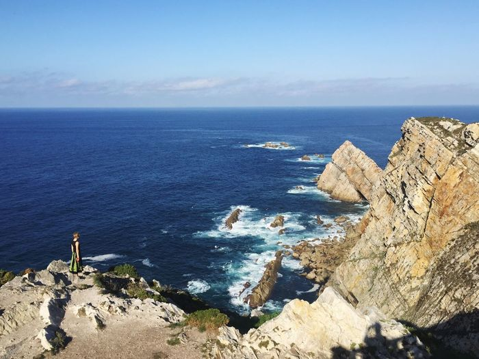 Sea Horizon Over Water Nature Beauty In Nature Scenics Water Tranquil Scene Rock - Object Tranquility Idyllic Day Sky Outdoors No People Cabo Peñas Lost In The Landscape