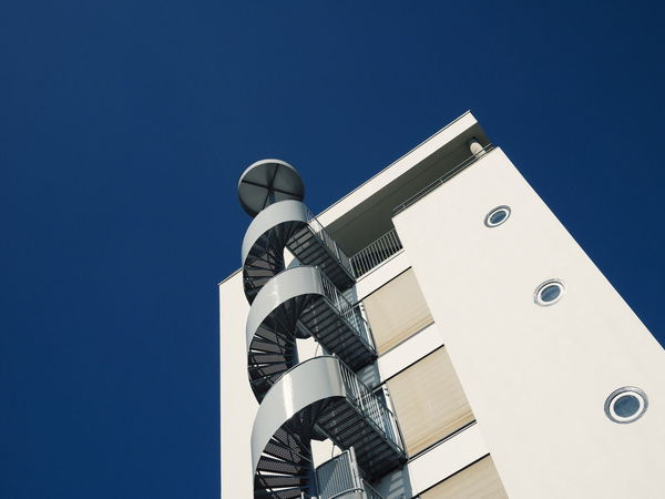 Architecture Built Structure Building Exterior Low Angle View Clear Sky Architectural Column Office Building Spiral Staircase Stairways Maastricht Minimalist Architecture The Architect - 2017 EyeEm Awards