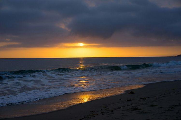 Beautiful sunset at Point Mugu, California. Beach Sunset Landscape Serene Beautiful Nature Point Mugu State Park