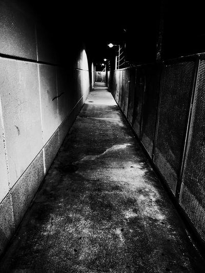 Bottle Alley Dark Menace Shadow Architecture Built Structure Passageway Pathway Walkway Diminishing Perspective Passage Narrow