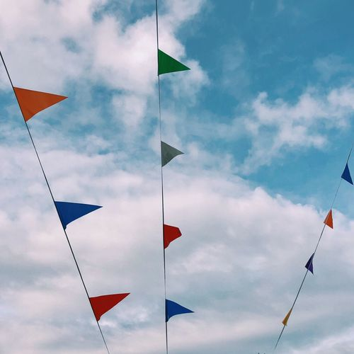 Banderolas Flag Pride Cloud - Sky Hanging Sky Outdoors No People Day Multi Colored Close-up
