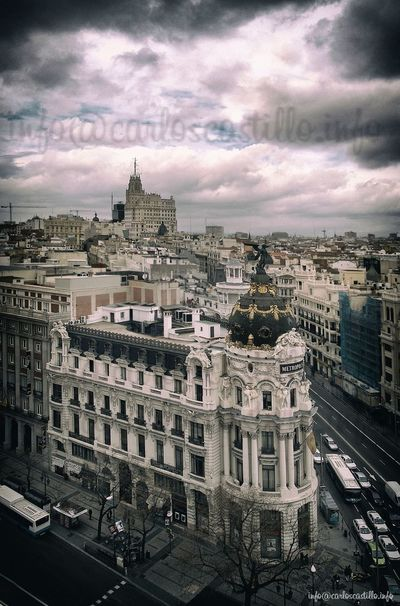 Madrid • Gran Via Building City Street
