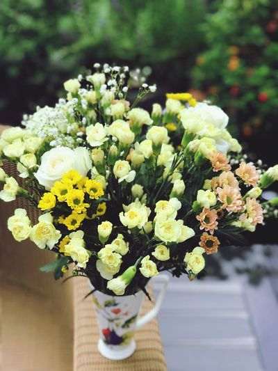 When you don't have a vase, use your mug:) The Power Of Flowers Flowering Plant Flower Plant Freshness Beauty In Nature Flower Arrangement Day Outdoors Yellow