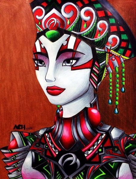 Drawing Fantasy Art Color Portrait