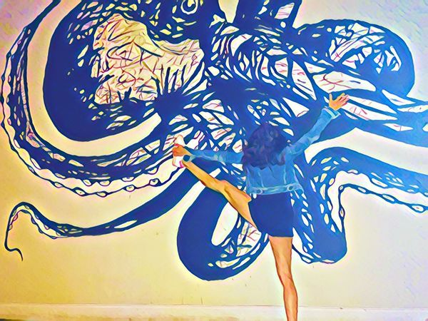 Octopose... Art Flow  Pose Yoga One Person Adult Adults Only People Only Women Day Young Adult