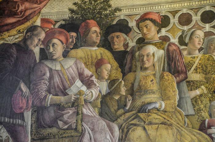 Camera Degli Sposi Fresco History Human Representation Italia Italy Mantegna Mantova No People Palazzo Ducale, Mantova