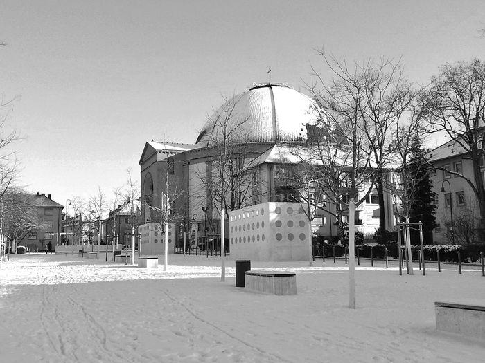 Darmstadt Church Monochrome Blackandwhite Photography Winter Wonderland Wintertime Snow ❄ Snowing St.ludwigkirche