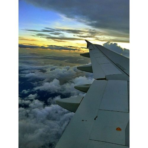 Flying through the clouds to see the Sunrise Colors CloudsWalker Clouds DarkFigure DarkClouds Tacloban Manila Philippines amazing EarlyHours Morning
