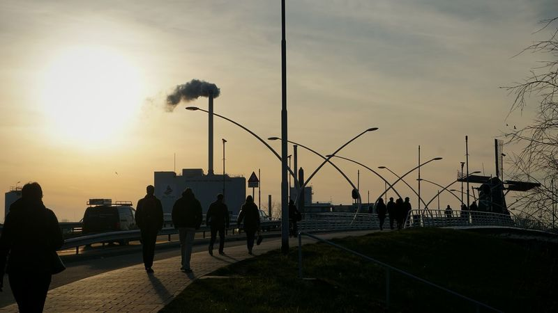 Almost perfect. Street Streetphotography Shadow Bridge Streetlamps Sunset Winter Inustrial  Factory Your Amsterdam Up Close Street Photography