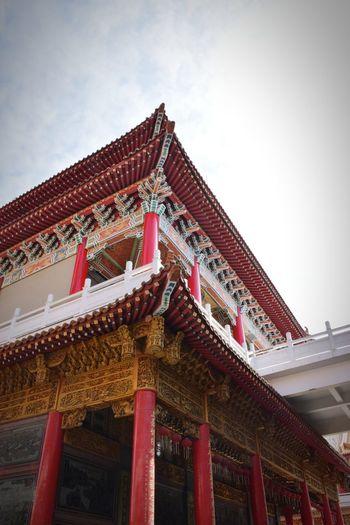 廟宇 古建筑 古蹟 廟宇 媽祖 Architecture Low Angle View Architectural Column Built Structure Travel Destinations No People Red