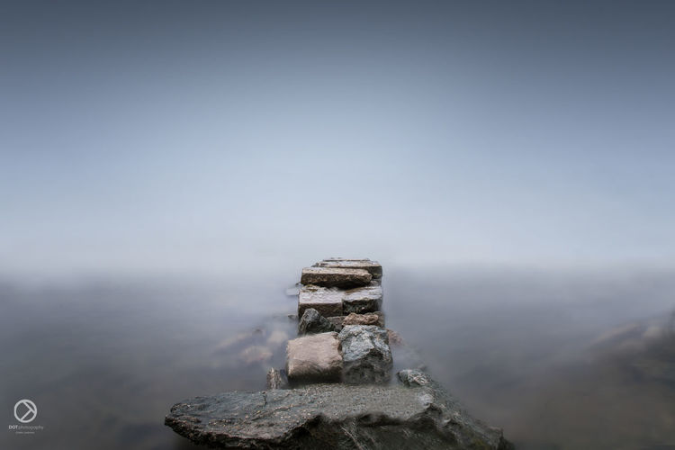 No People Day Outdoors Nature Water Sky Close-up Pixelated Cloud - Sky Fog Winter Rocks
