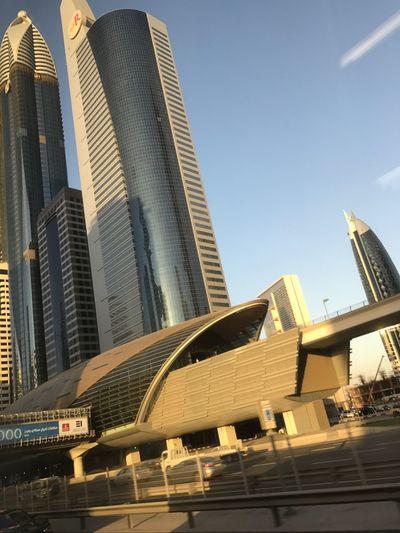 DXB City Low Angle View Dubai
