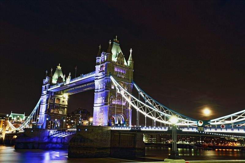Tower Bridge by Kadeen's Media Imagine Create Behold Canon6d Landscapephotographer Nightscape Londonatnight Canon Tower Bridge  Canon Photographer Canon PhotographyDelayedShutter London Nights The EyeEm Collection The Eyeem Collection At Getty Images Cities At Night