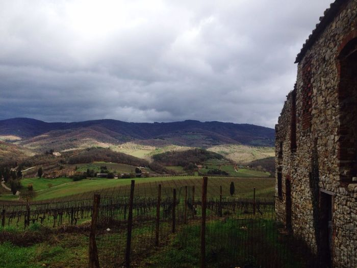 Tuscany Winter Clouds And Sky Empty Places A Bit Cold