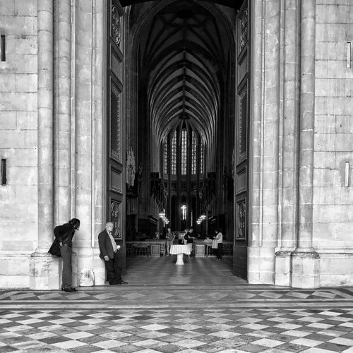 Sainte-croix Cathedral 😀 Orléans France Architecture Real People People Iphoneonly IPhoneography EyeEm IPhoneography Outofthephone Mobilephotography Blackandwhite Bnw Moment City