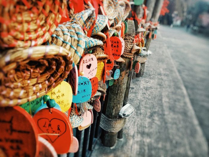 Bridge Low Angle View Multi Colored No People Close-up Large Group Of Objects Day Outdoors Culture And Tradition China Style Beijing, China Happyvalleysowerbybridge