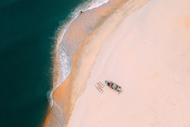 Land Beach Sand Day High Angle View Nature Water Beauty In Nature Sea Scenics - Nature People Travel Real People Tranquil Scene Tranquility Outdoors Sport Non-urban Scene