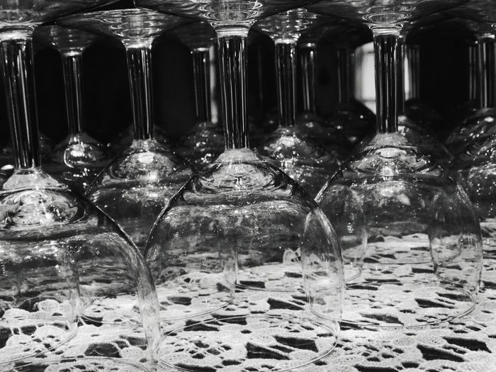 Glass Glass - Material Glasses Glass Reflection Blackandwhite Black And White Black & White Blackandwhite Photography Black And White Photography Black&white Taking Photos EyeEm Best Shots Taking Pictures Taking Photo In A Row Close-up Winery