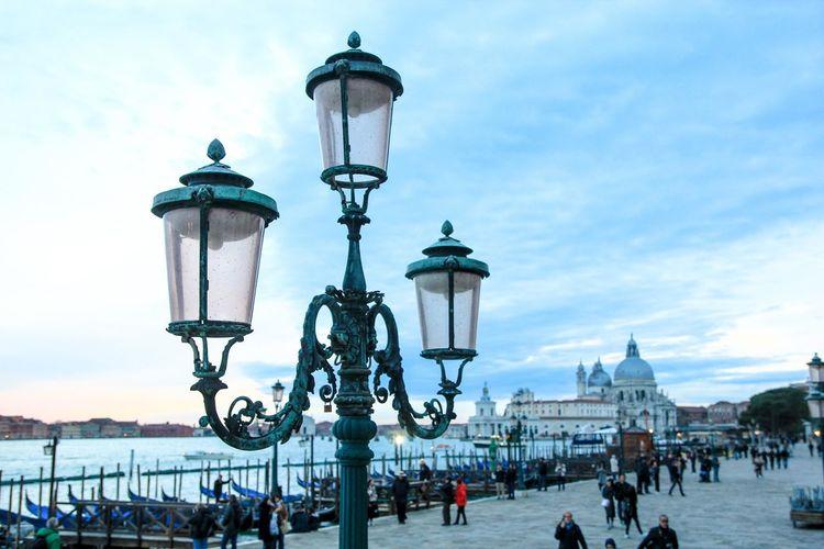 Street light in city