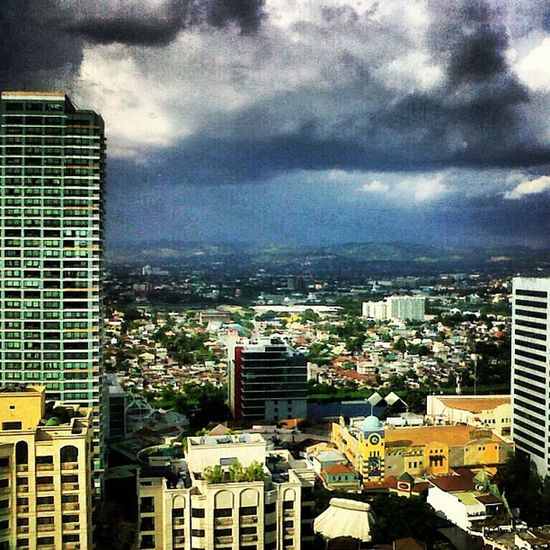 View from the office earlier this afternoon before it started raining. ? Eastwood Mdc100