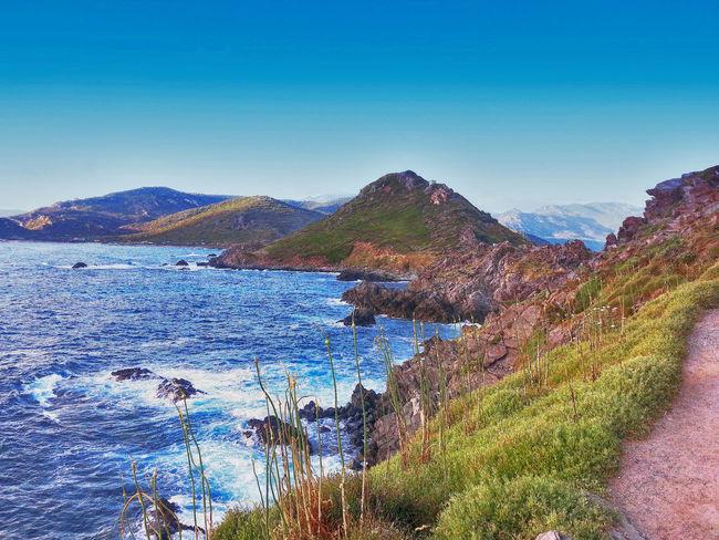 AJaccio. Corse du Sud. .Îles Sanguinaires Iles Sanguinaires Iles Sanguinaires Corse Mountain Multi Colored Blue Sky Mountain Range Landscape
