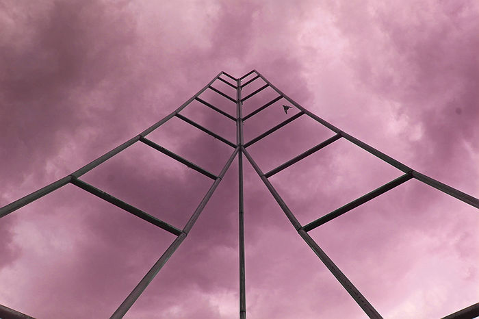 Stairway to heaven. Architectural Feature Architecture Cielo Cloud Cloud - Sky Clouds Cloudy Day Heaven Modern New Eyeem Nubes Outdoors Sky South America Stairs Streetphotography Structure Tall Tall - High Venezuela Weekly Welcome Welcomeweekly Dramatic Sky Dramatic Angles