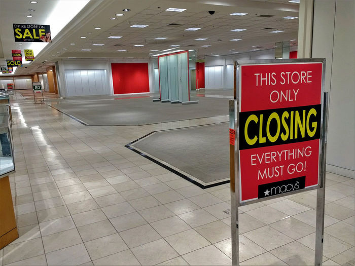 Inside the closing Macy's department store, Cottonwood Mall, Albuquerque, New Mexico. Abandoned Albuquerque Anchor Store Bankrupt Barren Capitalism Chain Store Commercialism Cottonwood Mall Department Store Empty Everything Must Go Failed Interior Macy's Mall Retail  Retail Store Shop Sold Out Store Store Closing