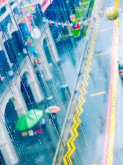 Rainy day City Life City Blurred Motion Transportation Defocused Modern Day Architecture Outdoors