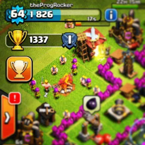 1337 trophies Clashofclans ClanWars CoC Android Myfirstbeer Trophies Hello Is IT Me Youre Looking For I Can See IT In Your Eyes I Can See IT in your smile hashtags imarealjackass