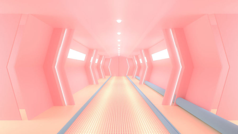 Pink spaceship
