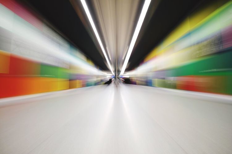 Transportation Blurred Motion Speed Illuminated The Way Forward Long Exposure Motion Indoors  Road No People Subway Station Day Subway Technology Tunnel Futuristic Underground City Munich, Germany