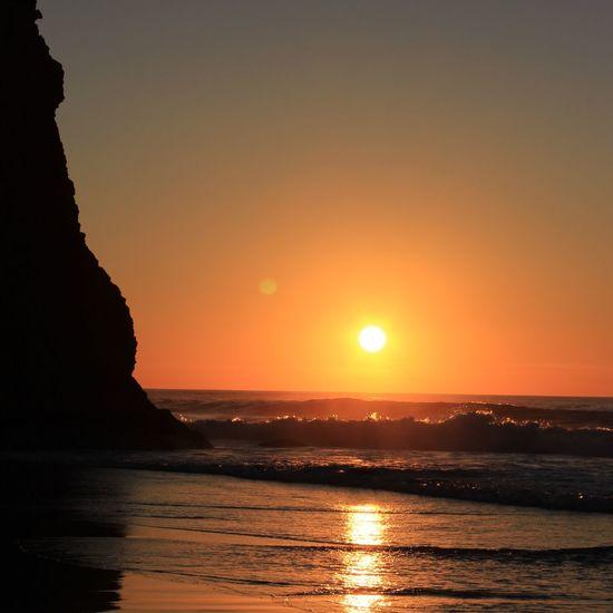 Water Wave Sea Sunset Beach Beauty Sunlight Horizon Summer Silhouette