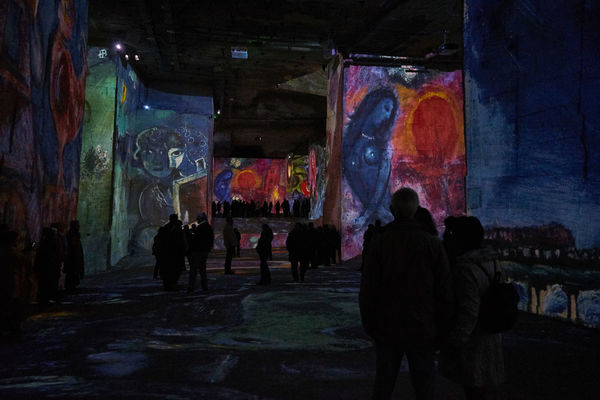 carrieres de lumieners SONY A7ii Adult Architecture Art And Craft Artist Built Structure Carrieres De Lumieners Frankreich Illuminated Indoors  Large Group Of People Leisure Activity Lifestyles Men Multi Colored Night People Real People Silhouette Untertage Women