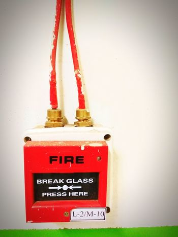 Red Fire Alarm Emergency Equipment Firefighter Day Close-up Indoors  🔥