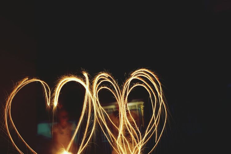 Children, love and sparkles. Night Outdoors Spark Friends Love Sparkling Firework Nights  Long Exposure Fun Laugh Friendship Sisters Sister First Eyeem Photo