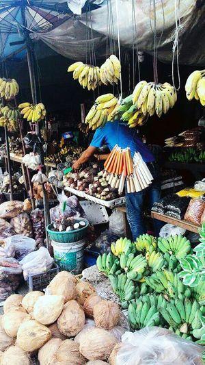 Streetphotography Streetphoto_color Fruit Market On A Sunday Afternoon Fruit Shop Banana Head Thailand_allshots Thai Fruits BANANA HEAD!!!