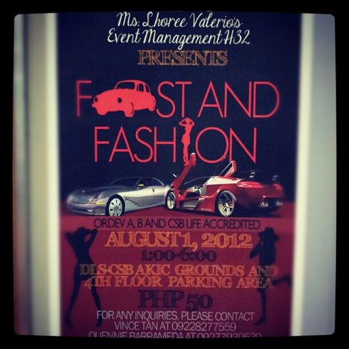 I'll be here, too! :) Convmgt Dlscsb Csb Shrim fashion carshow msvalerio fast&fashion event