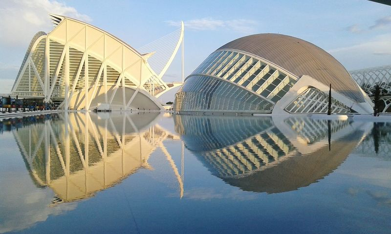 Valencia, Spain Science Museum  Oceanographic Waterreflections  Awesome Evening Beautiful